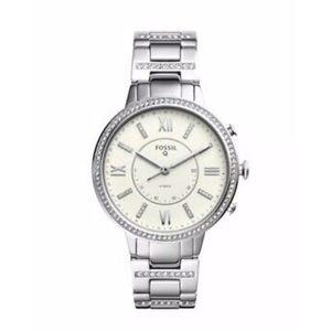 NIB Fossil Q FTW5009 Silver Toned Hybrid Watch